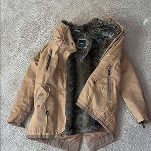Forever 21 winter fur utility jacket